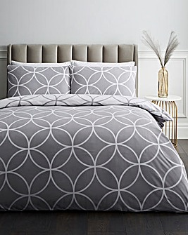 Greyson Printed Reversible Duvet Cover Set