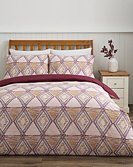 Asha Reversible Duvet Cover Set