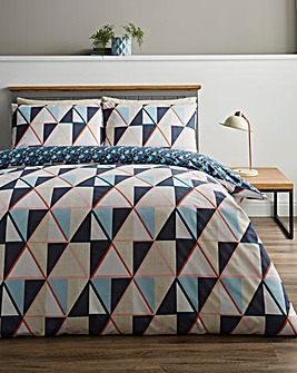 Brandon Geo Print Reversible Duvet Cover Set