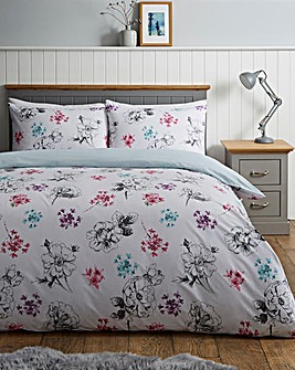 Valerie Floral Reversible Duvet Cover Set