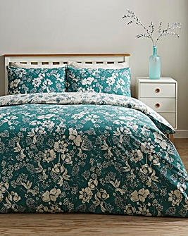 Moira Floral Reversible Duvet Cover Set