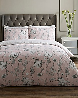 Melinda Blush Floral Duvet Cover Set