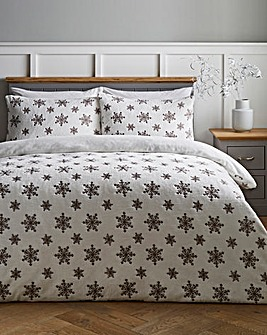 Snowflake Fleece Duvet Cover Set