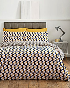 Lois Geo Reversible Duvet Cover Set