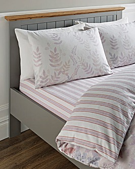 Eden Lilac Floral Brushed Cotton Fitted Sheet