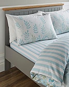 Eden Blue Floral Brushed Cotton Fitted Sheet