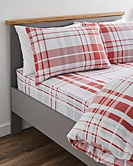 Pete Check Brushed Cotton Fitted Sheet