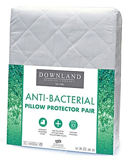 Anti-Bacterial Pillow Protector Pair