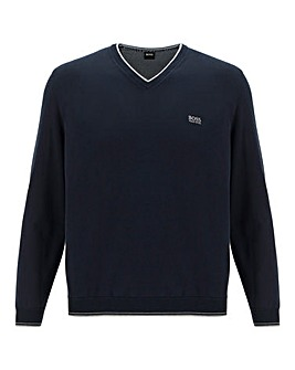 Boss V Neck Stretch Jumper