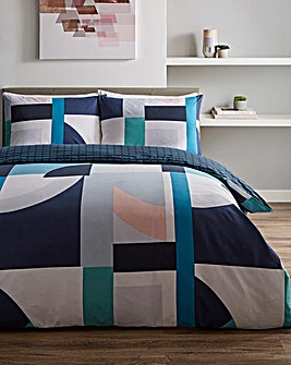 Duke Geo Printed Reversible Duvet Cover Set