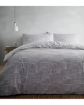Old Town Grey Duvet Cover Set