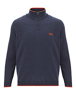 Boss 1/4 Zip Neck Stretch Jumper