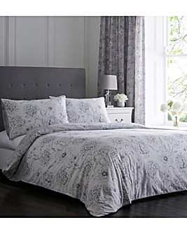 Freya Grey Reversible Duvet Cover Set