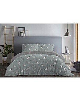 Geese Reversible Duvet Cover Set