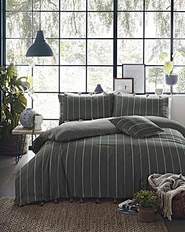 Delta Stripe Cotton Duvet Cover Set