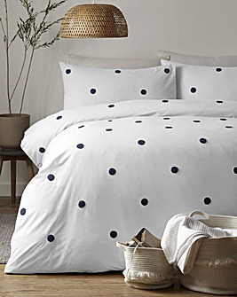 Appletree Tufted Dot 180 Thread Count Cotton Duvet Set