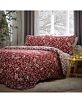 Nordic Reversible Brushed Cotton Duvet Cover Set