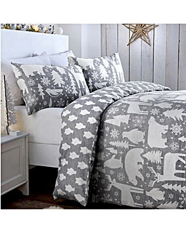 Arctic Animals Reversible Brushed Cotton Duvet Cover Set