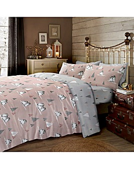 Fluffy Penguin Brushed Cotton Duvet Set