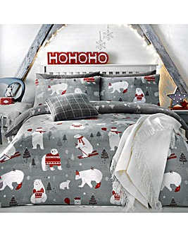 Polar Bears Reversible Duvet Cover Set