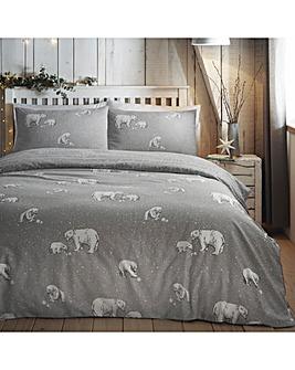 Polar Bears Reversible Duvet Cover Set