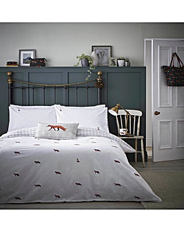 Sophie Allport Foxes Brushed Cotton Duvet Cover Set