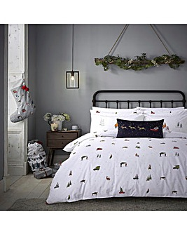 Sophie Allport Home For Christmas 200 Thread Count Cotton Duvet Set