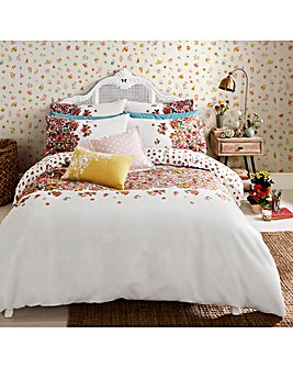Cath Kidston Painted Bloom Brushed Cotton Duvet Set