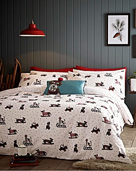 Fat Face Sledging Dogs Duvet Cover Set