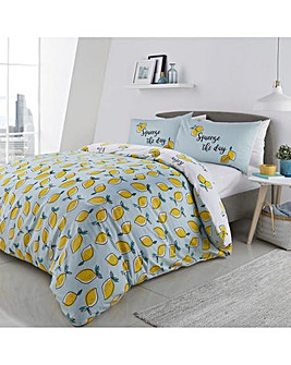 Lemons 'Squeeze the Day' Reversible Duvet Cover Set