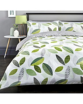 Tazio Green Reversible Duvet Cover Set