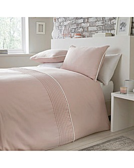Serene Pom Pom Blush Duvet Cover Set
