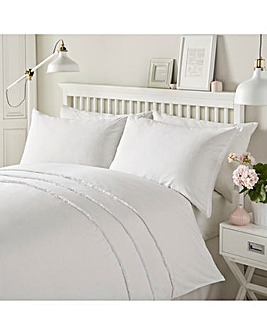 Serene Tassels White Duvet Cover Set
