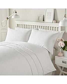 Serene Tassels White Duvet Set