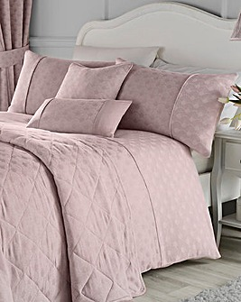 Serene Nouveau Fan Blush Duvet Cover Set