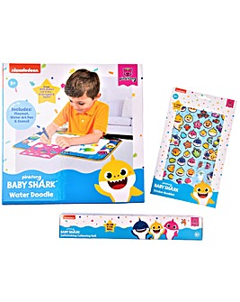 Baby Shark Water Doodle And Art Set Including Stickers And Coulouring Roll