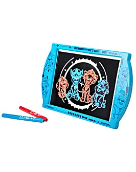 Paw Patrol Glow Pad - Light Up Drawing Pad With Neon Markers