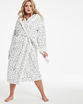 Boux Avenue Snow Leopard Waffle Robe