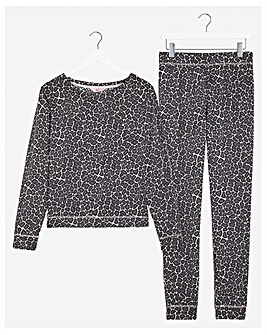Boux Avenue Giraffe Print Top & Pants Set
