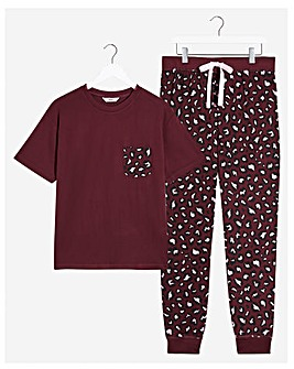Boux Avenue Leopard Tee & Leggings Set