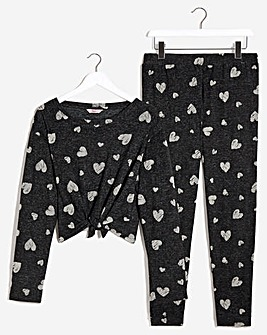 Boux Avenue Heart Tie Top & Pants Set