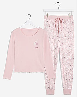 Boux Avenue Love Giraffe PJ Set