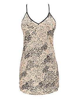 Boux Avenue Animal Print Satin Chemise