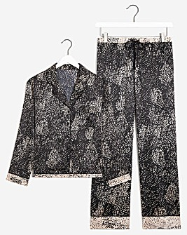 Boux Avenue Animal Print Satin PJ's