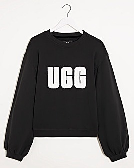 UGG Fuzzy Logo Brook Lounge Crewneck