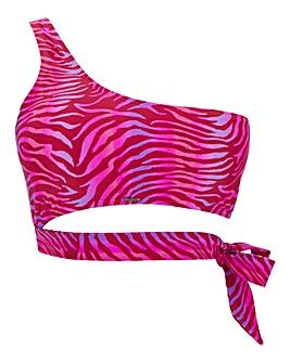 Boux Avenue Jamaica Asymmetric Bikini Top