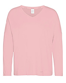 Calvin Klein Long Sleeve V Neck T-Shirt