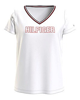 Tommy Hilfiger SS V Neck Logo T Shirt