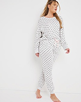Boux Avenue Snooze Heart Print Top and Jogger