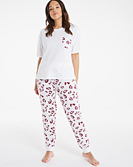 Boux Avenue Leopard T and Leggings Set